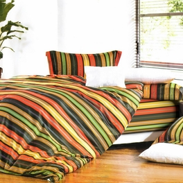 [Colorful Stripe] Luxury 5PC Comforter Set Combo 300GSM (King Size)