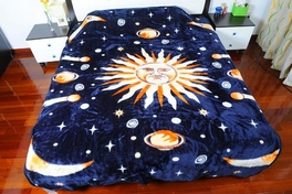 [Dream of the Moon] Plush Raschel Blanket( 79 by 95  inches )