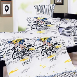[Sporting Style] 100% Cotton 4PC Duvet Cover Set (King Size)