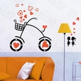 Sweet Bicycling - X-Large Wall Decals Stickers Appliques Home Decor