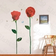 Glorious Rose 3 - X-Large Wall Decals Stickers Appliques Home Decor