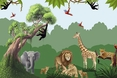 Jungle Adventures Mural Large