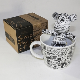 [Graffiti] Stuffed Bear Mug (3.3 inch height)