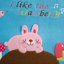 [Strawberry] Embroidered Applique Fabric Art 17 inch Monitor Screen Cover & Wrist Rest Pad