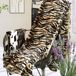 [Animal Tiger] Micro Mink Throw Blanket (50 by 70 inches)
