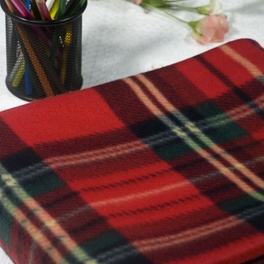 [Red/Green/Black Plaids] Soft Coral Fleece Throw Blanket (59 by 71 inches)