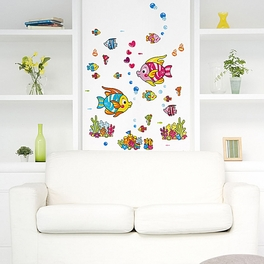 Cartoon Fish-2 - Wall Decals Stickers Appliques Home Decor