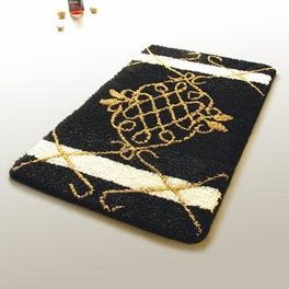 [Royal Black] Luxury Home Rugs (19.7 by 31.5 inches)