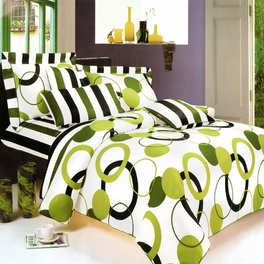 [Artistic Green] 100% Cotton 7PC MEGA Duvet Cover Set (Queen Size)