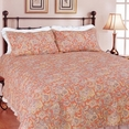 [Autumn Foliage] 100% Cotton 3PC Classic Floral Vermicelli-Quilted Quilt Set (King Size)