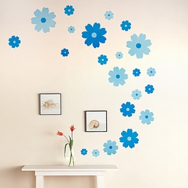 Dreamy Flowers - Wall Decals Stickers Appliques Home Decor