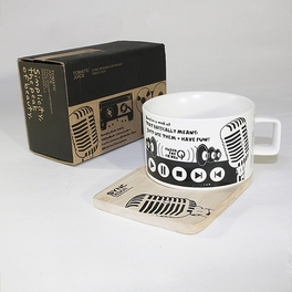 [Recording Studio] Espresso Cup / Wood Coaster (2.5 inch height)