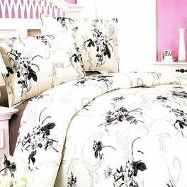 [Spring Rose] 100% Cotton 4PC Duvet Cover Set (Queen Size)
