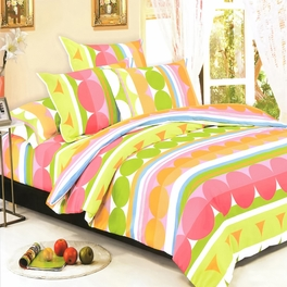 [Colorful Days] 100% Cotton 5PC Comforter Set (King Size)