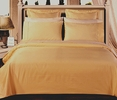 OLYMPIC QUEEN 8PC Solid GOLD 550TC Egyptian cotton Bed in a Bag