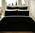 California-King 8PC Solid BLACK 550TC Egyptian cotton Bed in a Bag