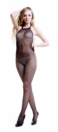 Blancho SE-117 Fashion Sexy Black Sheer Mesh Cami Body Stocking - Black - Medium