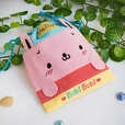 [Bubi Bunny] Embroidered Applique Fabric Art Draw String Bag / Drawstring Pouch (6.7*8.5)