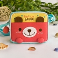 [Hello Bear] Embroidered Applique Swingpack Bag Purse / Wallet Bag / Shoulder Bag (5.5*4.7*1.2)