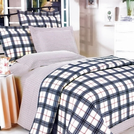 [Red Black Plaid] 100% Cotton 7PC Bed In A Bag (King Size)
