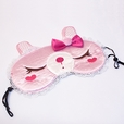 [Pink Temptation] Embroidered Applique Eye Shade / Sleeping Mask Cover / Sleep Blinder (7.9*3.1)