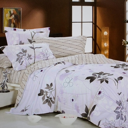 [Faint Aroma] 100% Cotton 4PC Comforter Cover/Duvet Cover Combo (Full Size)
