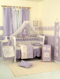 New Baby Girl Bedding Sets Butterfly Pink Purple Crib