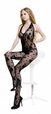 Blancho SE-135 Romantic Black Sheer French Lace Floral Embroidery Cami Body Stocking - Black - Medium