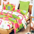 [Rhythm of Colors] 100% Cotton 5PC MEGA Comforter Cover/Duvet Cover Combo (Twin Size)