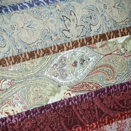 [Mysterious Totem] 100% Cotton 3PC Floral Vermicelli-Quilted Printed Quilt Set (King Size)