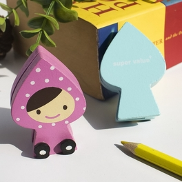 [Happy Doll] - Card Holder / Wooden Clips / Wooden Clamps / Animal Clips
