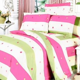 [Colorful Life] 100% Cotton 3PC Mini Duvet Cover Set (Full Size)