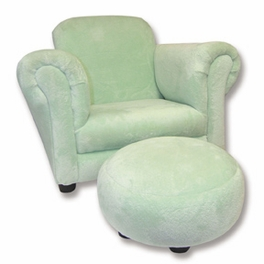 CLUB CHAIR - SOLID SAGE VELOUR