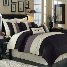 Black Hudson Luxury 8-Piece comforter Set(Full Size)
