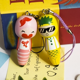 [Cherry & Pineapple] - Cell Phone Charm Strap / Camera Charm Strap / Handbags Charms