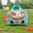 [Catch the Puppy] Embroidered Applique Kids Fanny Waist Pack / Travel Lumbar Pack (6.7*4.3*2.6)