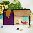 [Singing Dog] Embroidered Applique Kids Fanny Waist Pack / Travel Lumbar Pack (7.8*5.5*1.5)
