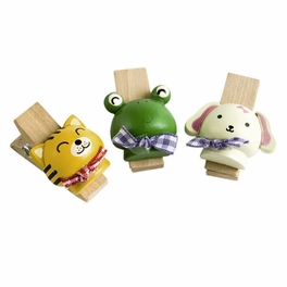 [Naughty Animals-2] - Wooden Clips / Wooden Clamps / Mini Clips