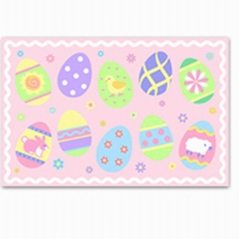 Easter Eggs (girl) Placemat