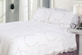 [Flower Gallop] 100% Cotton 3PC Floral Embroidered Intricate Stitching Quilt Set (King Size)