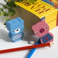 [Bear & Pig] - Card Holder / Wooden Clips / Wooden Clamps / Animal Clips