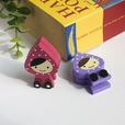 [Pretty Doll] - Card Holder / Wooden Clips / Wooden Clamps / Animal Clips