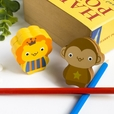 [Lion & Monkey] - Card Holder / Wooden Clips / Wooden Clamps / Animal Clips