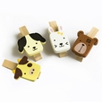 [Cute Animals-1] - Wooden Clips / Wooden Clamps / Mini Clips