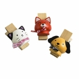 [Naughty Animals-3] - Wooden Clips / Wooden Clamps / Mini Clips