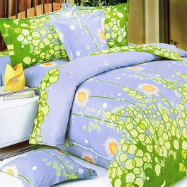 [Dandelion Dream] 100% Cotton 2PC Mini Duvet Cover Set (Twin Size)