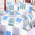 [Blue Fantasy] 100% Cotton 5PC Comforter Set (Queen Size)