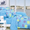 [Sky Patch] 100% Cotton 4PC Comforter Set (Twin Size)