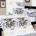 [Sporting Style] 100% Cotton 5PC Comforter Set (Full Size)