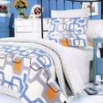 [Traces of Dreams] 100% Cotton 4PC Comforter Set (Twin Size)